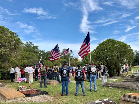 Flag raising ceremony Oakridge Cemetery Fort Myers