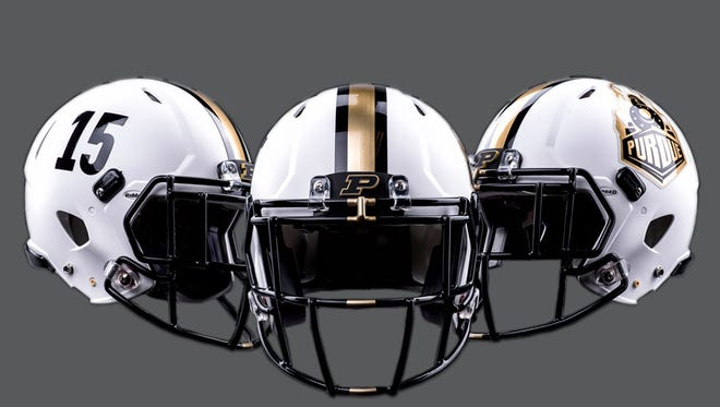 Purdue football helmets