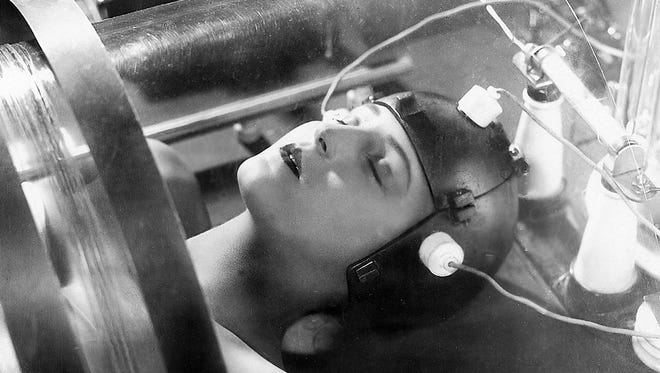 "Scenes from Fritz Lang's 1927 silent sci-fi classic ""Metropolis"" will be part of Present Music's Oct. 21 concert at the Milwaukee Art Museum."