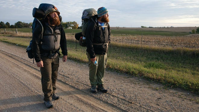 """Milwaukee Iraq War veterans Tom Voss (left) and Anthony Anderson hit the road to find peace and raise awareness. Their journey is the focus of the documentary """"Almost Sunrise,"""" showing Oct. 1-2 at the 2016 Milwaukee Film Festival."""