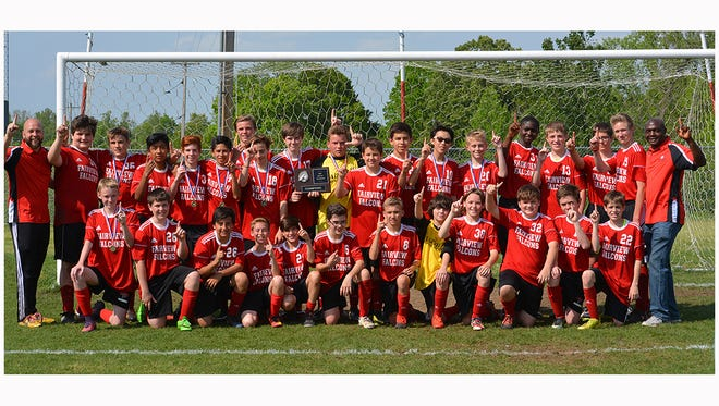 The Fairview Middle School Falcons Boys Soccer Team are the new 2017 Middle Cumberland Soccer Conference (MCSC) Champions.