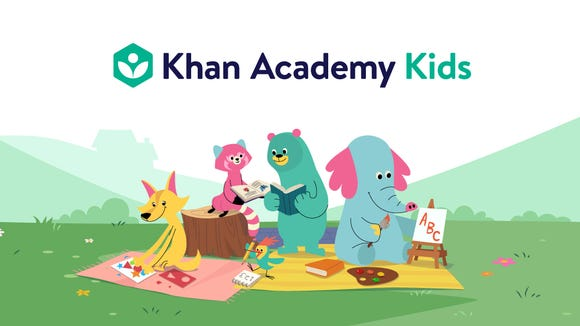 Khan Academy Kids is  a new educational app for 2 to 5 years old, with subjects like math, science, reading, writing, social studies and more.