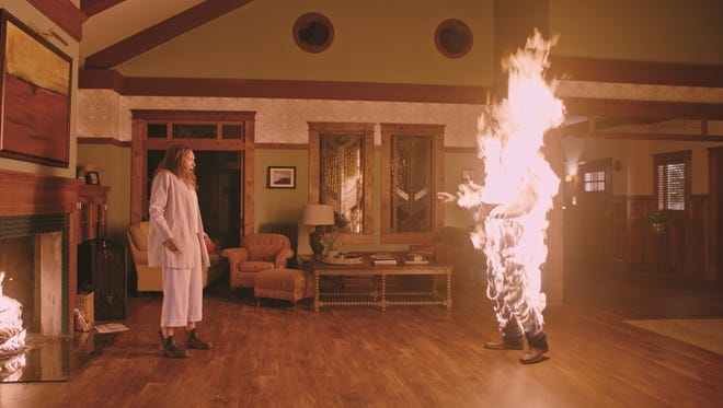 "Something terrifying is happening to Annie (Toni Collette) in ""Hereditary."""
