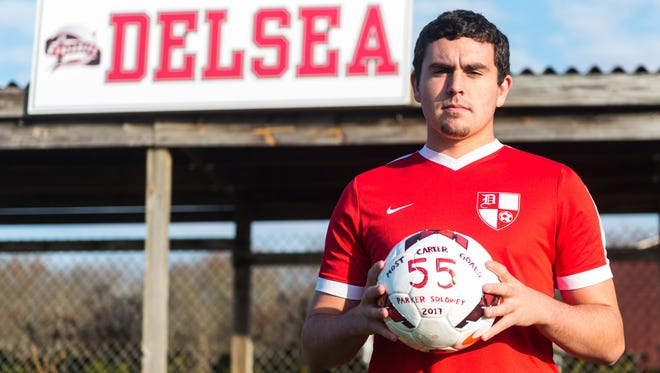 Delsea's Parker Solowey is the Daily Journal's Player of the Year for boys' soccer.