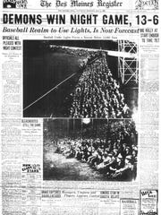 The Des Moines Register on Saturday, May 3, 1930, reported