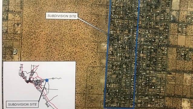 At least 335 homes in the Vista del Este subdivision will benefit from improvements to the existing water distribution system.