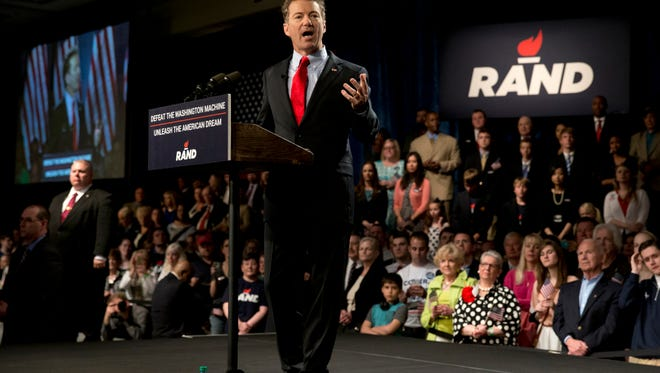Sen. Rand Paul, R-Ky., kicked off his presidential campaign at a Kentucky rally on April 7.