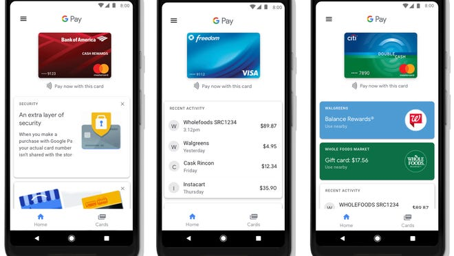A screenshot of the app Google Pay.