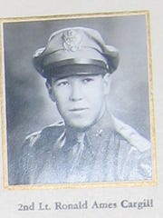 Ronald Cargill, was killed in a bombing raid over Germany in World War II