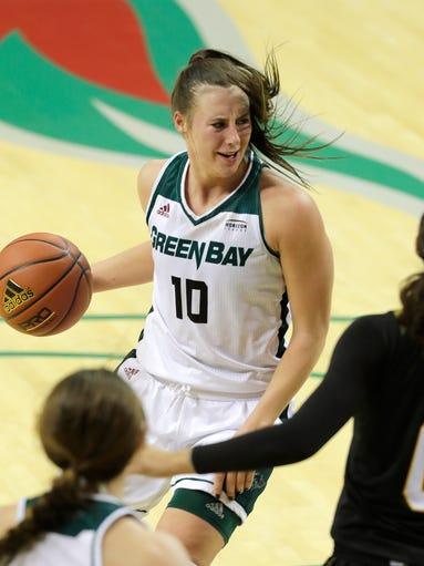 Green Bay Phoenix forward Mehryn Kraker (10) looks