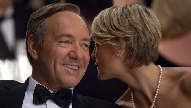 Kevin Spacey and Robin Wright star in  'House of Cards,' returning to Netflix Feb. 14 with a second, 13-episode season.