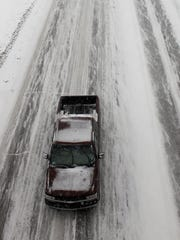 View from the Tillotson Overpass during the winter