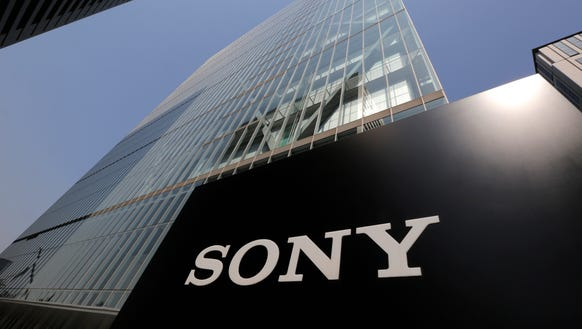 Sony's logo is seen outside the company's headquarters