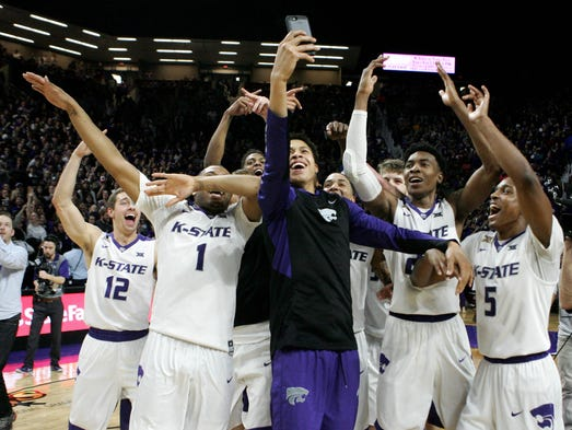 Members of the Kansas State Wildcats basketball team
