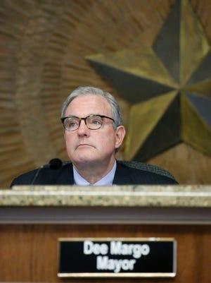 El Paso Mayor Dee Margo presides over a weekly council meeting.