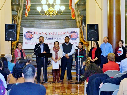"""A """"Thank You Iowa"""" celebration was held Nov. 14 at the Iowa State Capitol."""