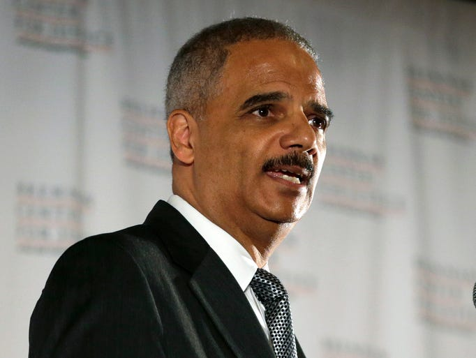 U.S. Attorney General Eric Holder delivers a keynote speech at New York University's law school on Tuesday in New York.
