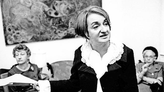 """Betty Friedan, author of """"The Feminine Mystique,"""" gave a voice to women frustrated by gender inequality. She was chosen in 1966 as the first president of the National Organization for Women (NOW)."""