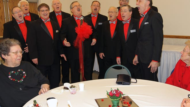 The Winnebagoland Barbershop Chorus will perform March 24 at Alberta Kimball Auditorium in Oshkosh.