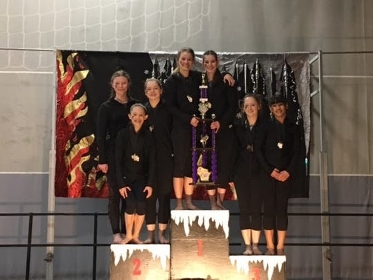 ​The Woodson YMCA's Level 8 gymnastics team earned first place at the state meet in West Bend.