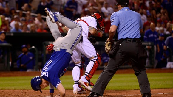 USP MLB: TORONTO BLUE JAYS AT ST. LOUIS CARDINALS S BBN STL TOR USA MO