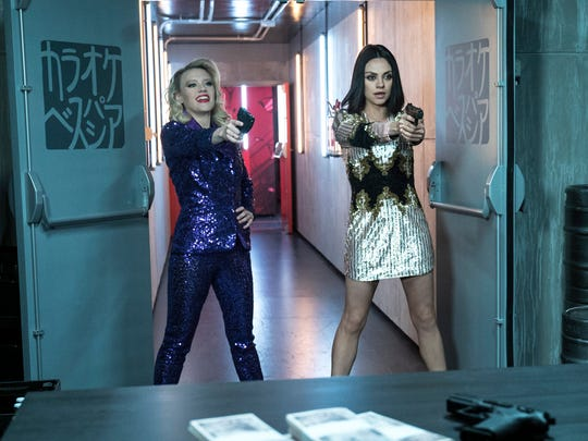 "In ""The Spy Who Dumped Me,"" nothing – not even a restaurant shootout or threat of torture  – can break up best friends Morgan (Kate McKinnon, left) and Audrey (Mila Kunis)."