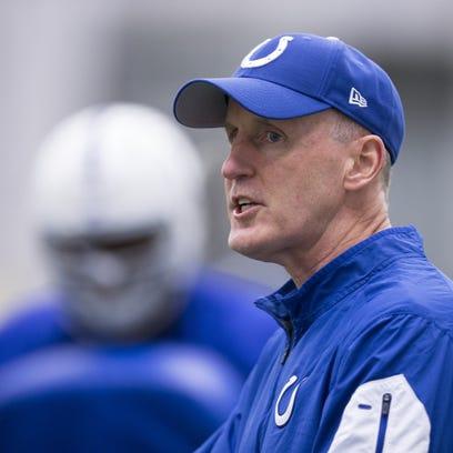 Colts' Joe Philbin talks offensive line