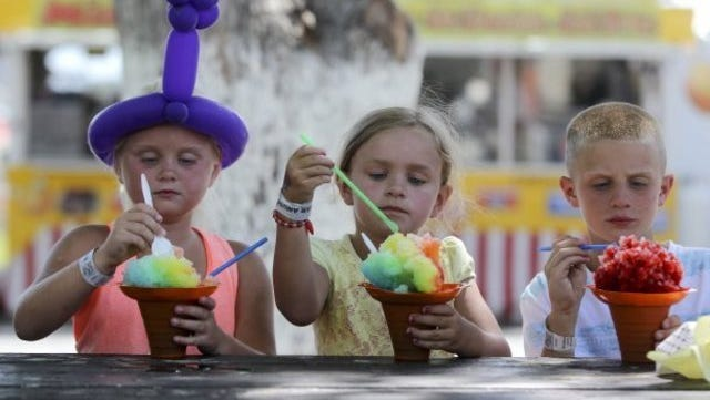 The Shasta District Fair held at the Shasta District Fair grounds includes traditional carnival and food booths, food displays, music and other entertainment.