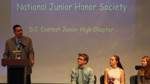 On Oct. 30, the D.C. Everest Area School District inducted new members into the National Junior Honor Society with a ceremony at D.C. Everest Middle School in Weston.