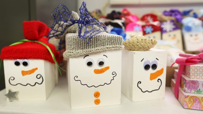 Snowmen were created by 4-H members in Reno County as gifts that will be given out to Reno County nursing home residents.