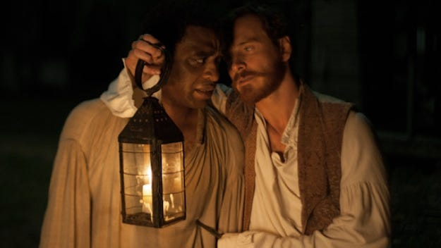"""""""12 Years a Slave""""   Director: Steve McQueen.   Cast: Chiwetel Ejiofor, Michael Fassbender, Sarah Paulson.   Rating: R for violence/cruelty, some nudity and brief sexuality.   In """"12 Years a Slave,"""" director Steve McQueen's astonishing film about Solomon Northup, upon whose autobiography it is based, reveales slavery for the unrelenting horror that it was. About time."""