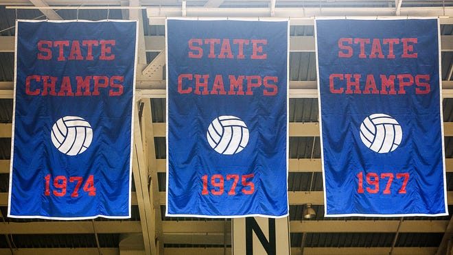 Jordan Kartholl/The Star PressNew Northside High School banners celebrate volleyball wins. New banners hanging in Central's fieldhouse.