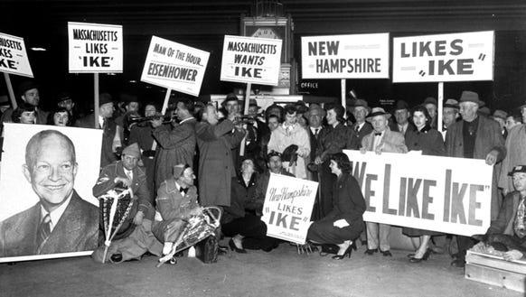 Delegations of Eisenhower supporters from Massachusetts