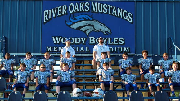The River Oaks youth football team will play at AT&T