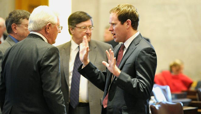 "Embattled Rep. Jeremy Durham, right, and his attorney continue to ""work with"" Tennessean Attorney General Herbert Slatery on the office's investigation into allegations of inappropriate conduct by Durham."