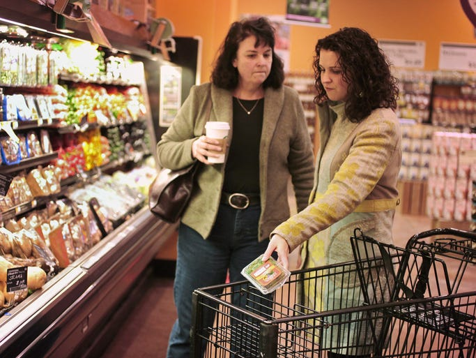 Mary Robinson, from Oshkosh, NE, left, shops with her daughter Ellen Hunt, from Carmel, at Whole Foods in Carmel, 14598 Clay Terrace Blvd., Tuesday, March 18, 2014.