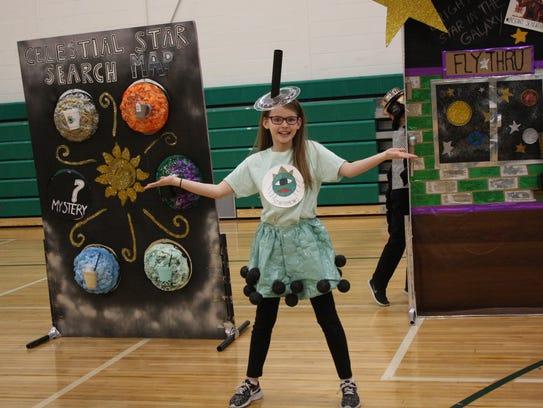All Saints Elementary School fifth-grader Isabella