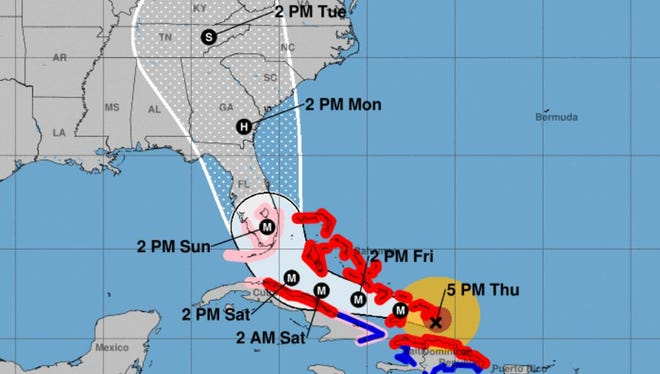 Hurricane Irma 8 p.m. Thursday, Sept. 7 update