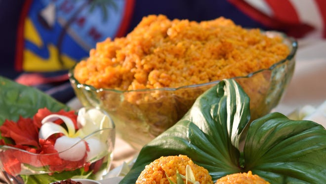 None of Guam's foods signify a special occasion as much as red rice. The rice is tinted and flavored with the annatto seed, locally known as achoti.