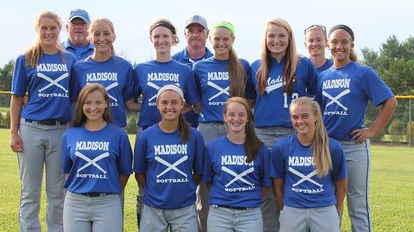 Madison's 16U softball team.
