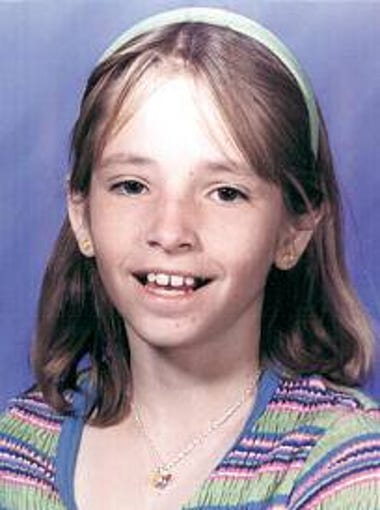 This photo of Mikelle Biggs, 11, was circulated throughout