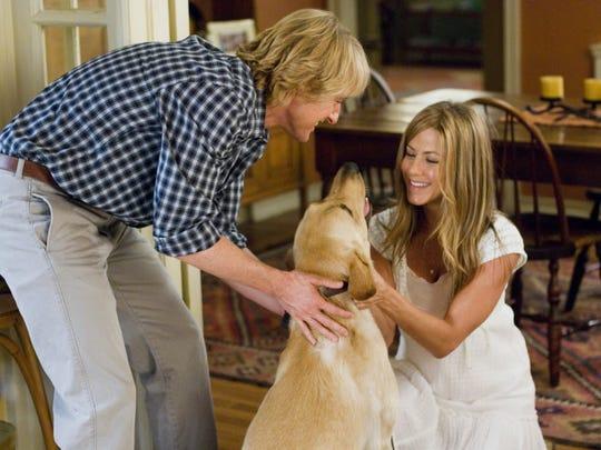 "Owen Wilson and Jennifer Aniston in ""Marley & Me"""