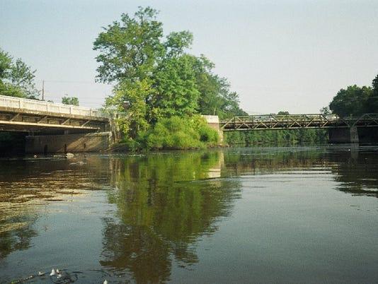 Passaic River at Two Bridges.