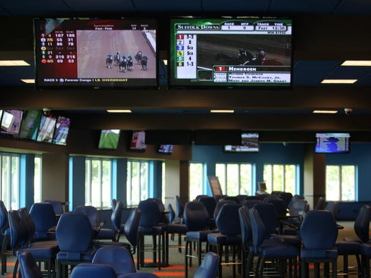 The William Hill sports bar, designed like a Nevada sports book, opened in 2014 at Monmouth Park. It is expected to be one of the first venues outside of Nevada to take sports bets.