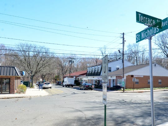 The corner intersection of Terrace Street and St. Nicholas Avenue where two of the roads involved in the streetscape would meet.