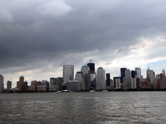 View of the New York City skyline from Jersey City
