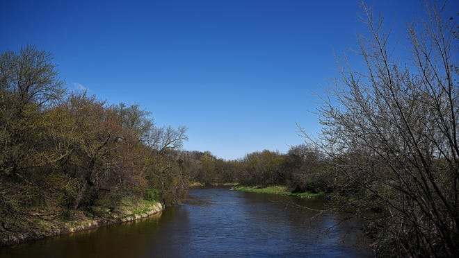 The Big Sioux River Thursday, April 21, 2016, between Baltic and Renner, S.D., near 254th Street.