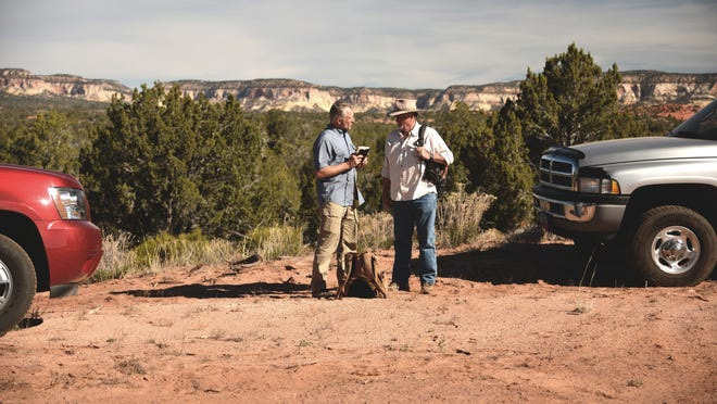 """""""America Unearthed"""" host Scott Wolter talks with author Steve Shaffer about a petroglyph found in various locations near Kanab that may be tied to lost Aztec treasure."""
