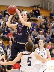 Ryanna LaMoreaux of Watkins Glen goes up for a shot