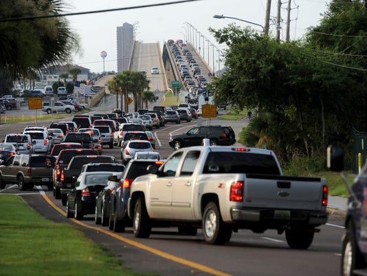 Pensacola Beach traffic